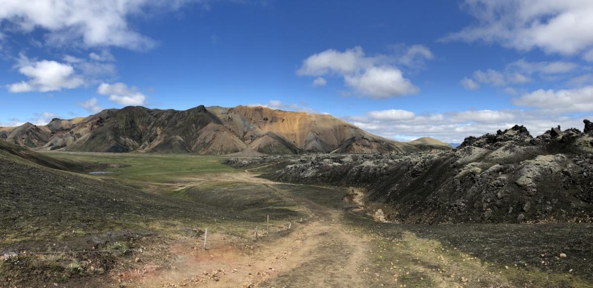 blue sky, mountain peak, mountainside, road, trail, landscape, mountain, mountains, high land, nature