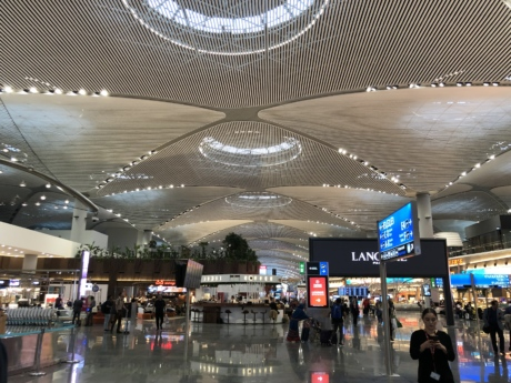 airport, interior decoration, mall, people, shopping, hall, stage, platform, departure, plaza