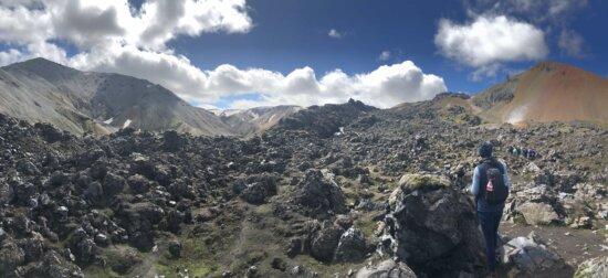 grandes rocas, Geologia, montañista, desierto, en la nube, aventura, alpino, subir, nubes, luz del día