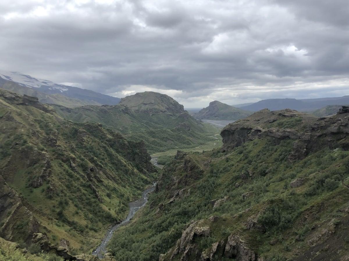 Bergspitze, Tal, Angebot, Berg, Hochland, Berge, Landschaft, Natur, Fluss, Wasser