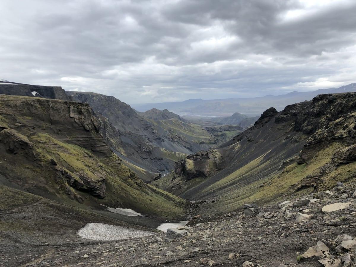 landscape, mountains, high land, mountain, nature, hike, valley, rock, glacier, cloud
