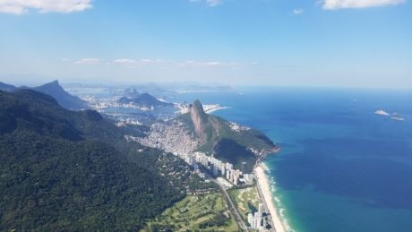 fair weather, majestic, mountain peak, panorama, rio de janeiro, coast, landscape, sea, water, ocean