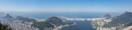 Luchtfoto, majestueus, panorama, Rio de janeiro, reizen, kustlijn, Kaap, berg, landschap, water