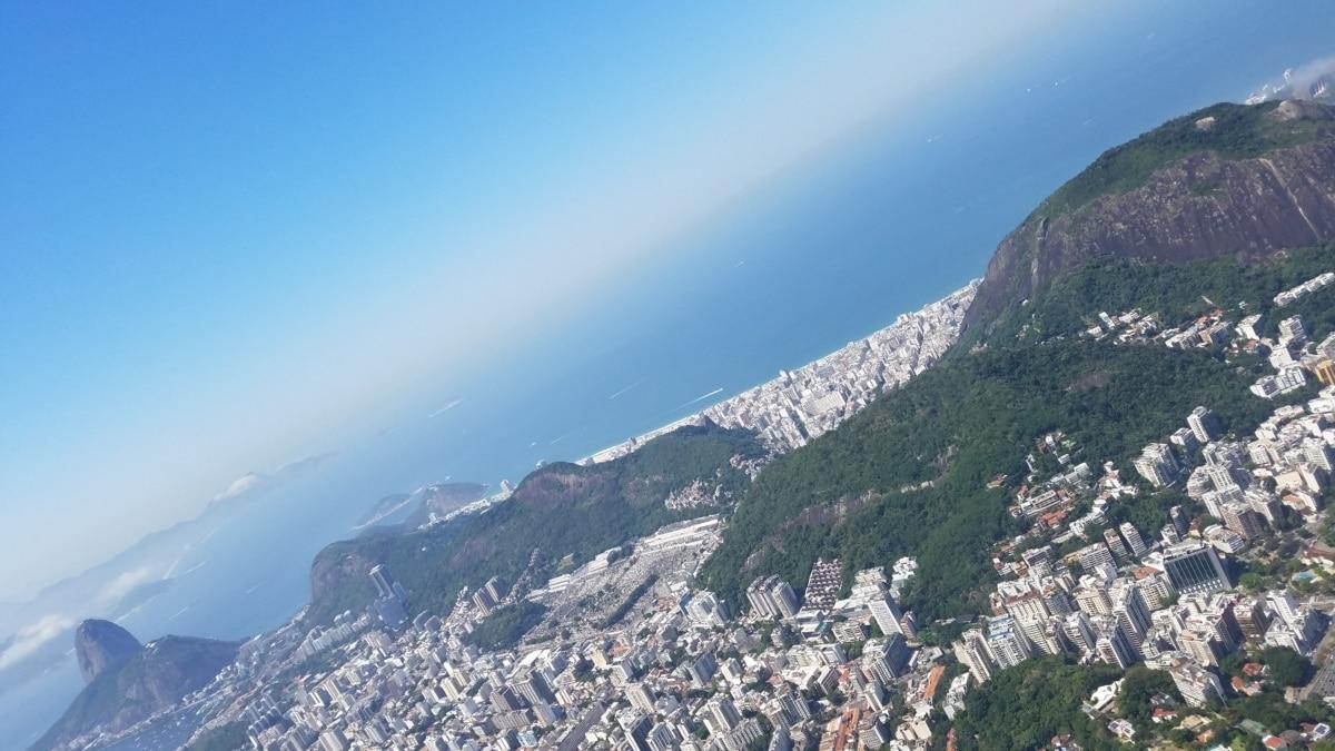 aéreo, paisaje urbano, Costa, panorama, pico, montaña, línea, montañas, paisaje, agua