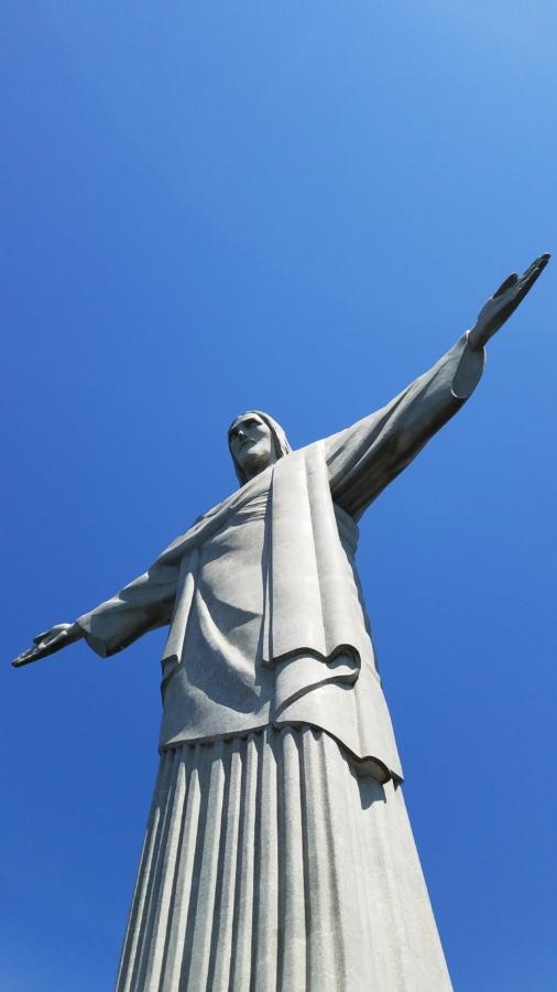 Christ, Christianisme, point de repère, Rio de janeiro, sculpture, architecture, statue de, à l'extérieur, art, oiseau