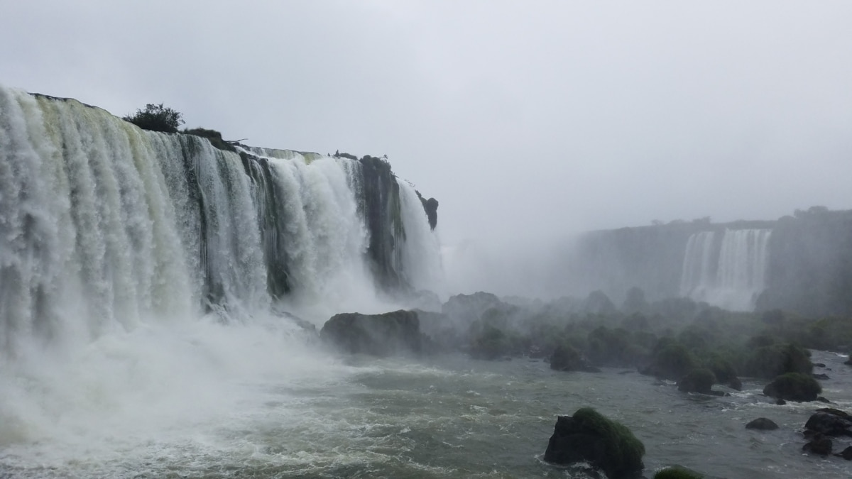 vodopad, voda, rijeka, krajolik, magla, magla, stijena, priroda, kaskadno, na otvorenom