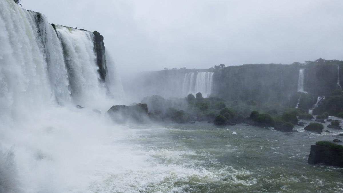 αφρώδες υλικό, κίνηση, βουτιά, νερό, Ποταμός, Καταρράκτης, ομίχλη, τοπίο, ροκ, φύση