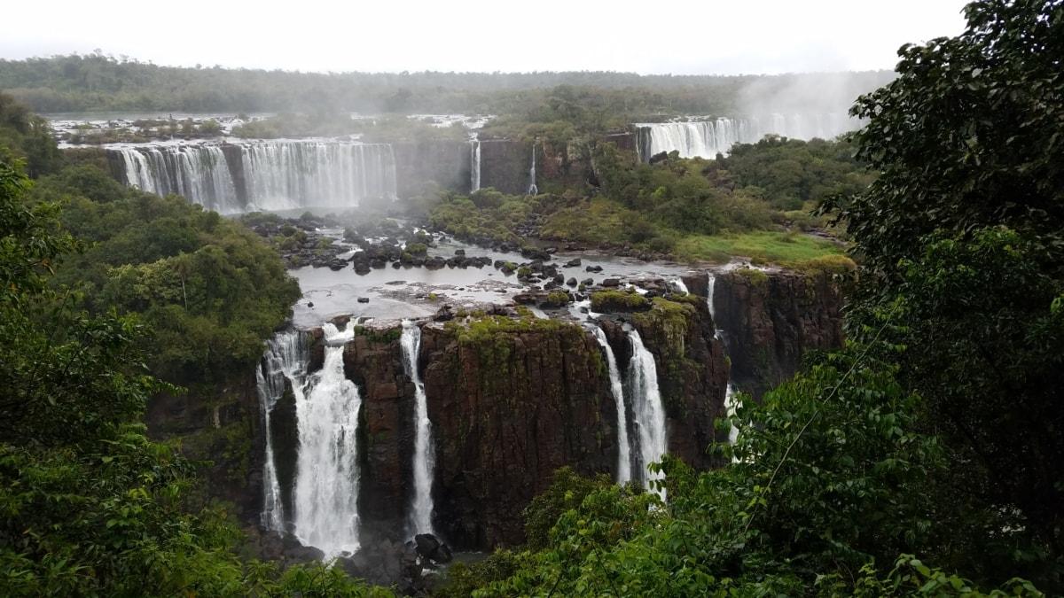 vízesés, víz, táj, folyó, szikla, Lépcsőzetes elrendezés, természet, szabadban, patak, dzsungel