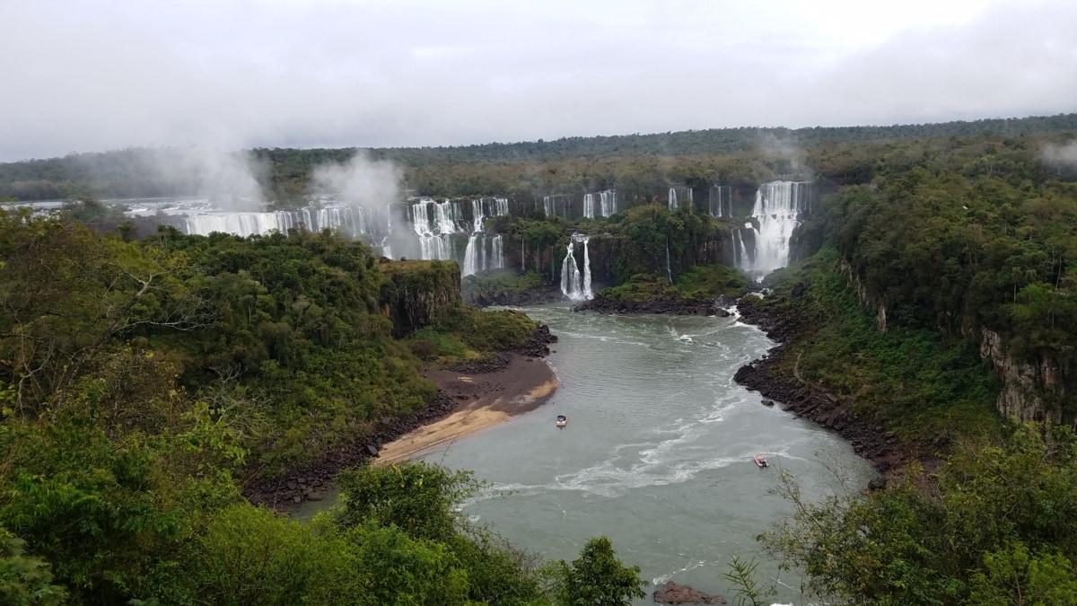 障碍, 景观, 通道, 水, 瀑布, 河, 性质, 户外活动, 流, 树
