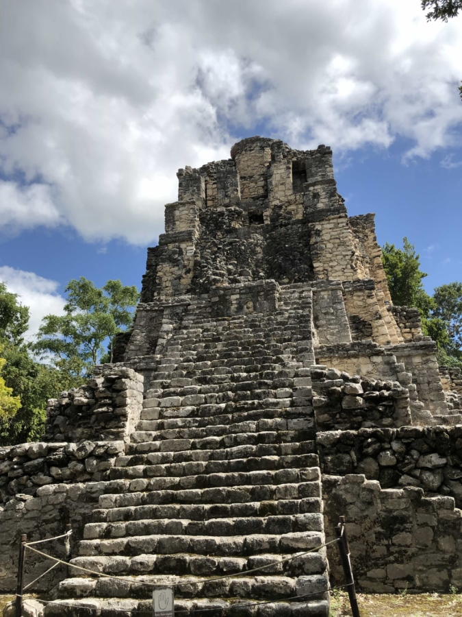 pyramid, stairs, stone wall, vertical, ruin, archaeology, ancient, architecture, temple, old