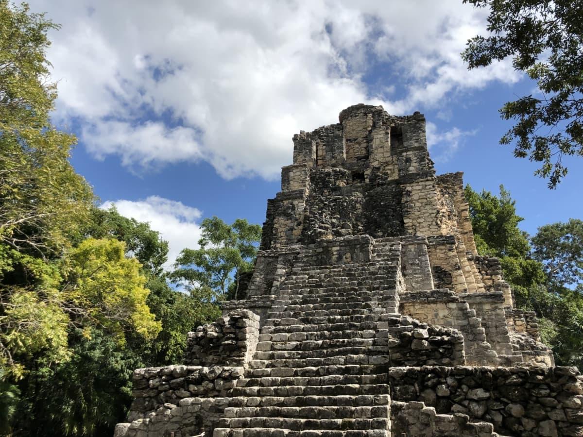 người Mỹ, khảo cổ học, kim tự tháp, nhiệt đới, kiến trúc, lâu đài, đá, Rampart, cổ đại, pháo đài