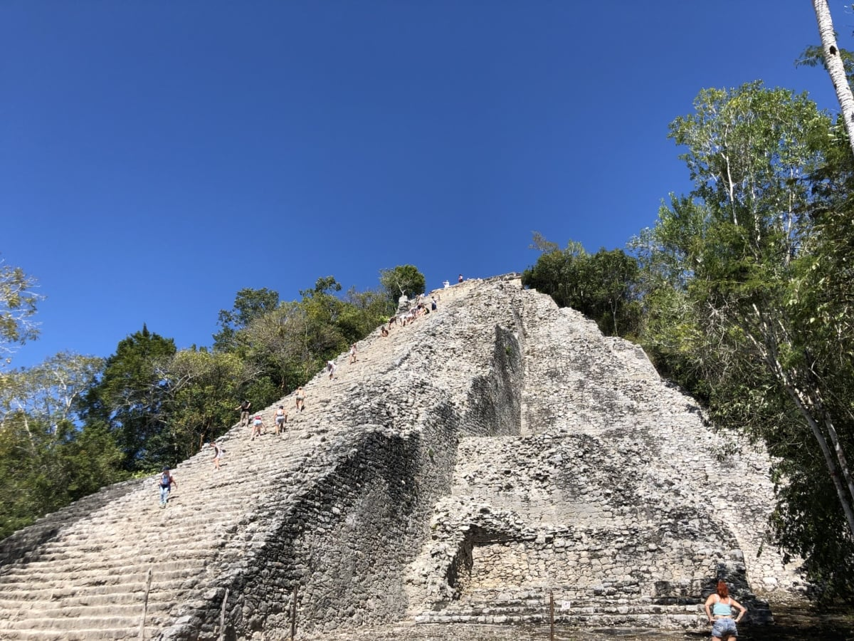 people, pyramid, grave, roof, outdoors, architecture, nature, landscape, tree, ancient