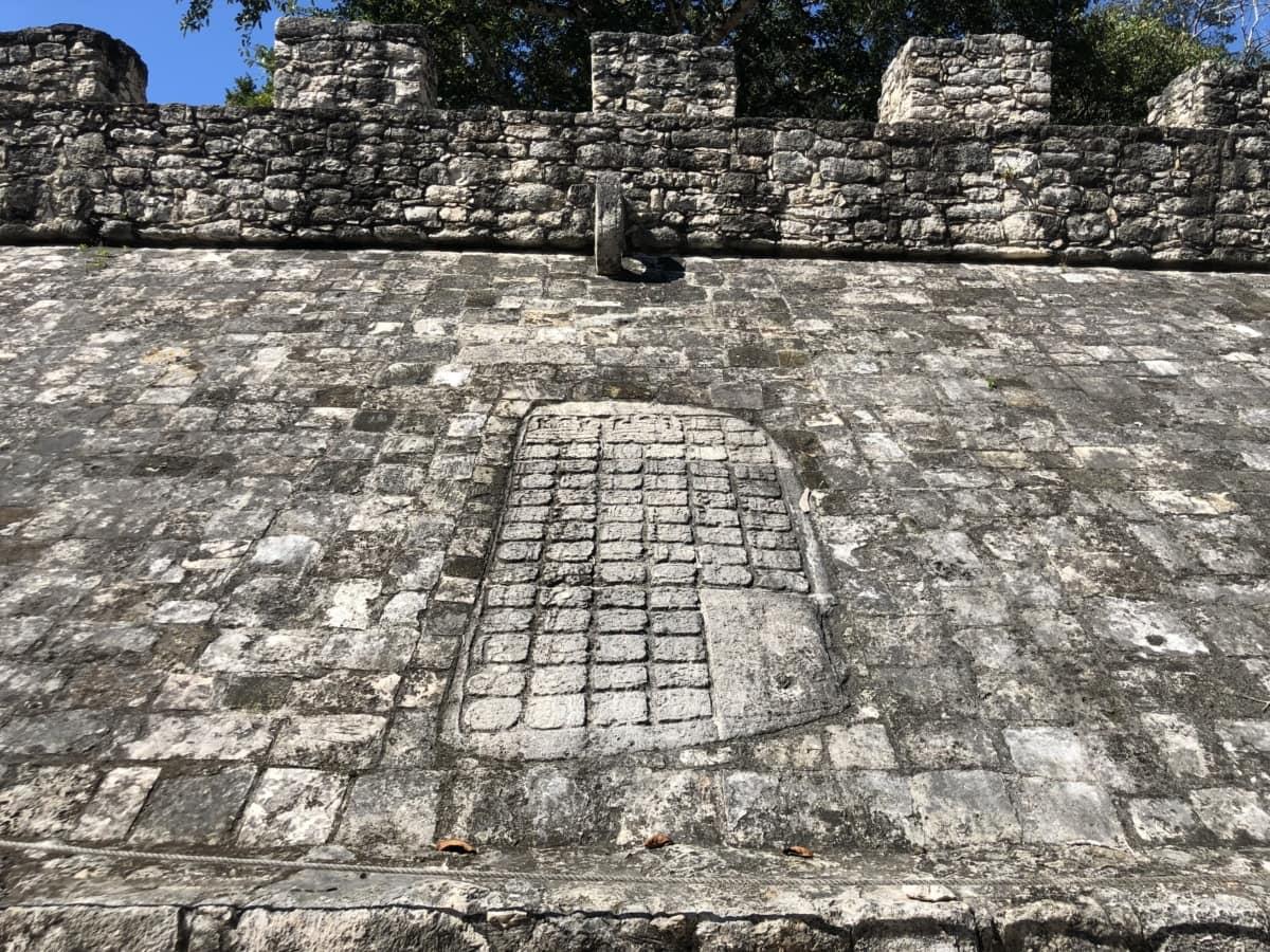 Amerika, Archeologie, verrijking, erfgoed, stenen muur, stenen, trottoir, baksteen, oude, patroon