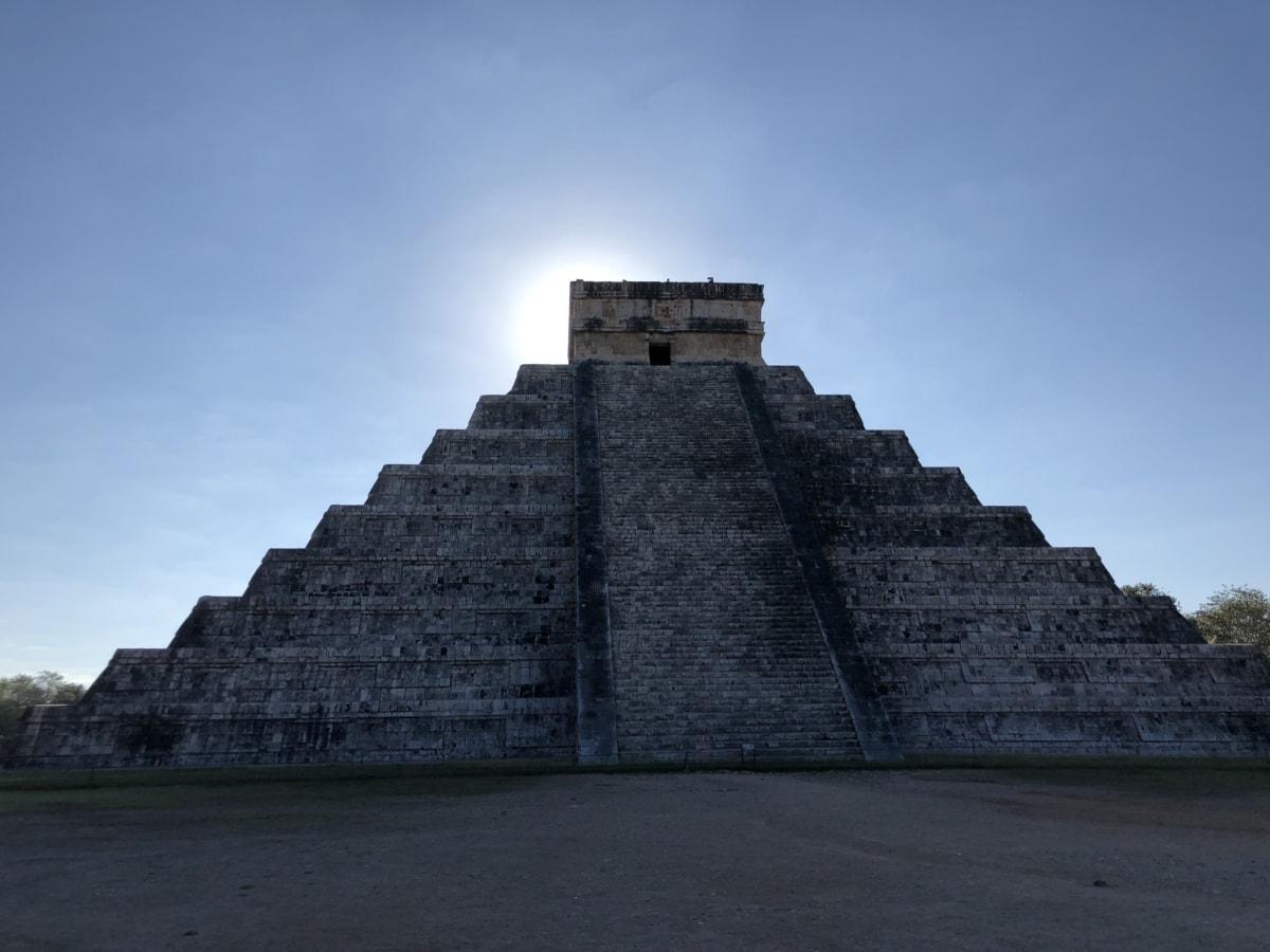 cultura, medieval, pirâmide, religião, sombra, raios solares, antiga, arquitetura, pedra, passo