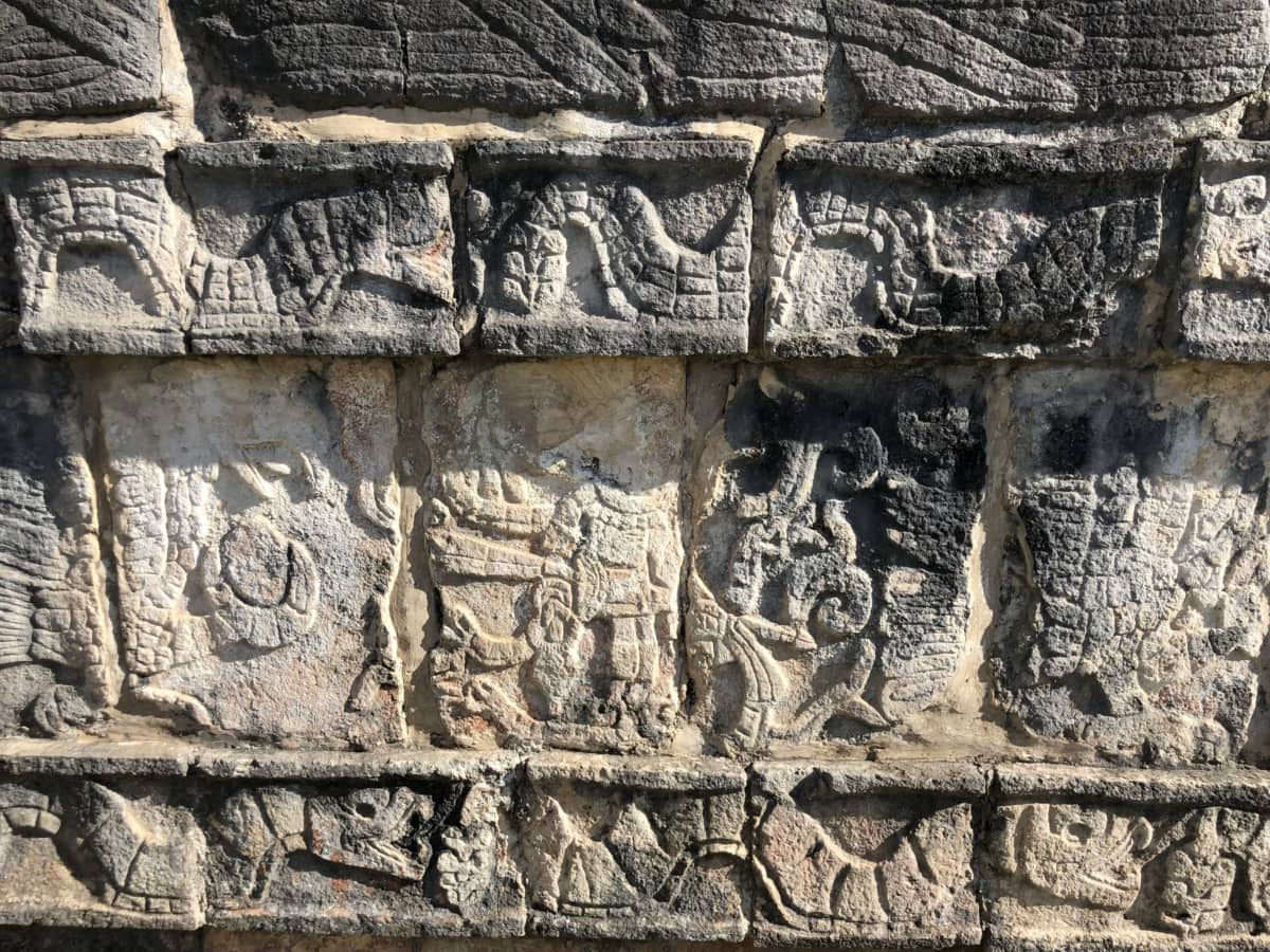 arkeologi, träsnideri, Detaljer, Heritage, medeltida, stenmur, dyrkan, antika, templet, arkeologi
