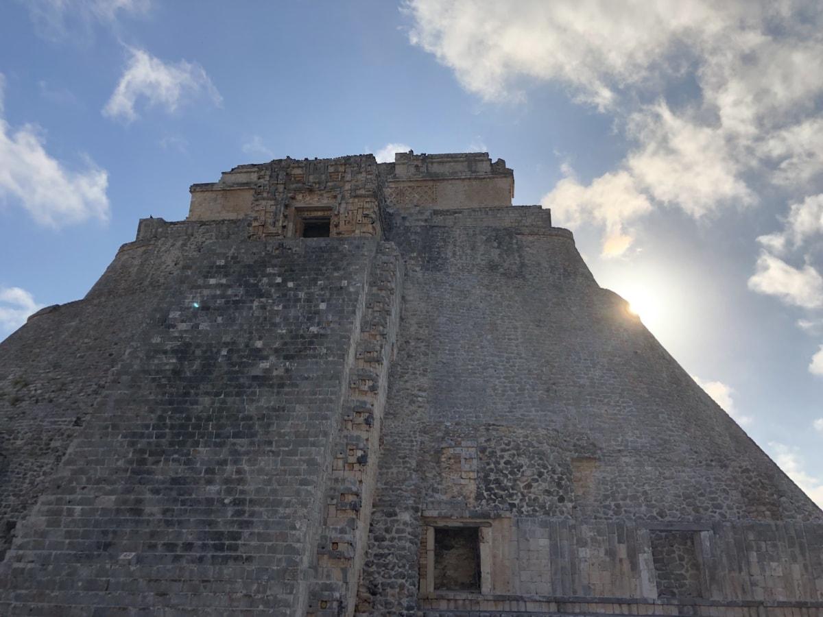 civilisationen, Stor, Heritage, solen, solstrålar, Pyramid, antika, fästning, arkitektur, gamla