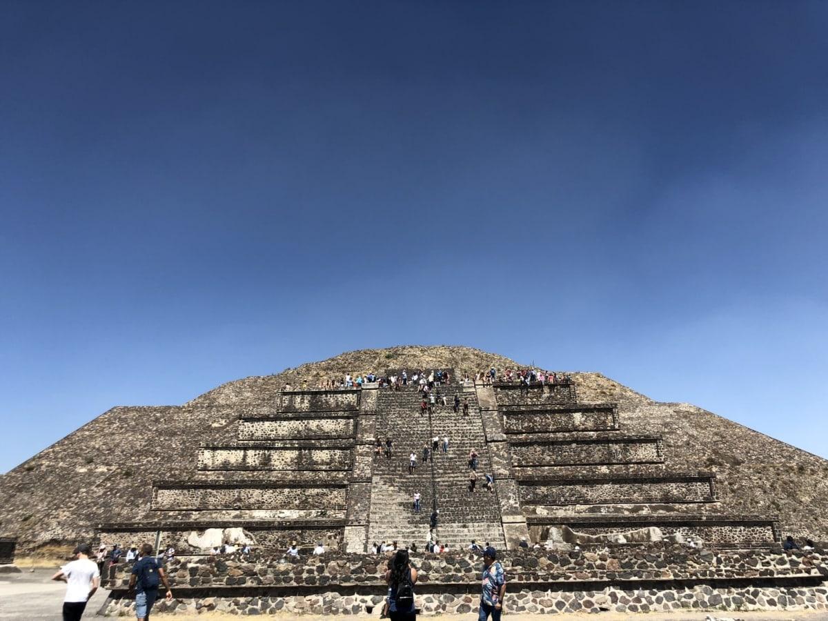 gužva, stubište, turistička atrakcija, kamen, arhitektura, grob, arheologija, drevno, piramida, korak