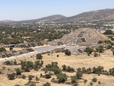 archaeology, hilltop, pyramid, architecture, knoll, landscape, mountain, high land, ancient, outdoors