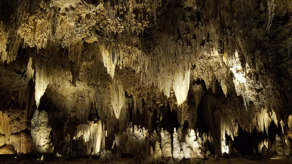 Пещерата, тъмнината, геология, осветление, величествен, пейзаж, вътре, варовик, тунел, тъмно