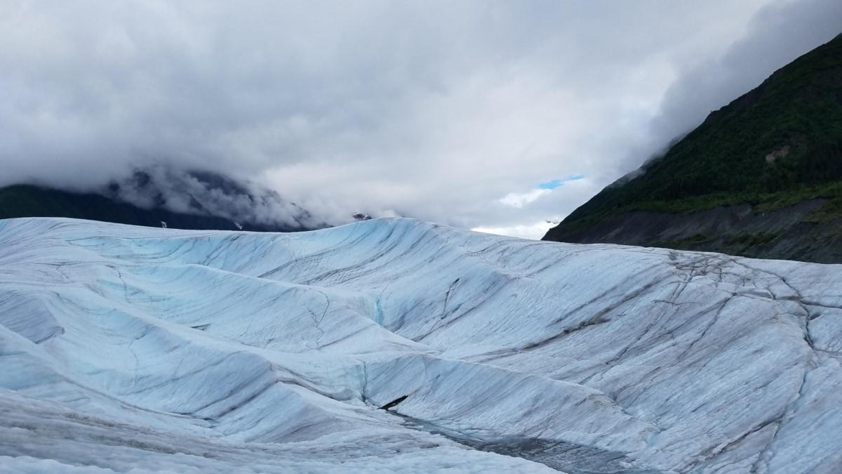 nært hold, isbre, is krystall, Ice felt, isvann, isfjell, majestetiske, fjell, topp, fjell