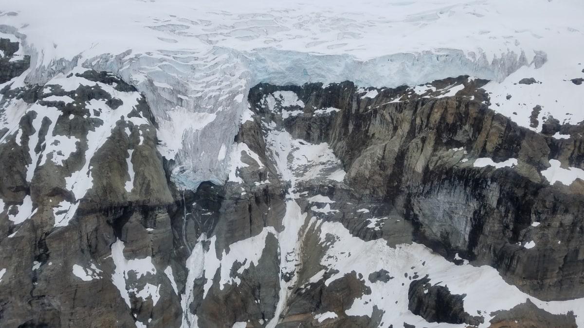 заморожені, гору пік, взимку, краєвид, лід, Льодовик, Гора, сніг, холодної, води