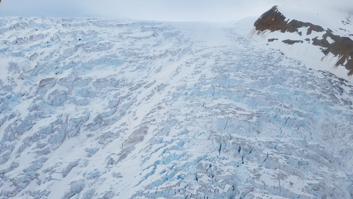glacier, landscape, ice, slope, mountain, snow, mountains, cold, winter, frosty