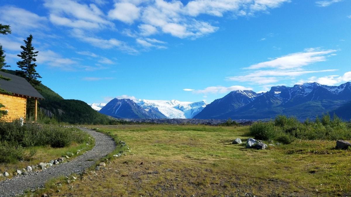 blå himmel, hytte, fjellsiden, nasjonalpark, landskapet, fjell, topp, snø, høyt land, utvalg