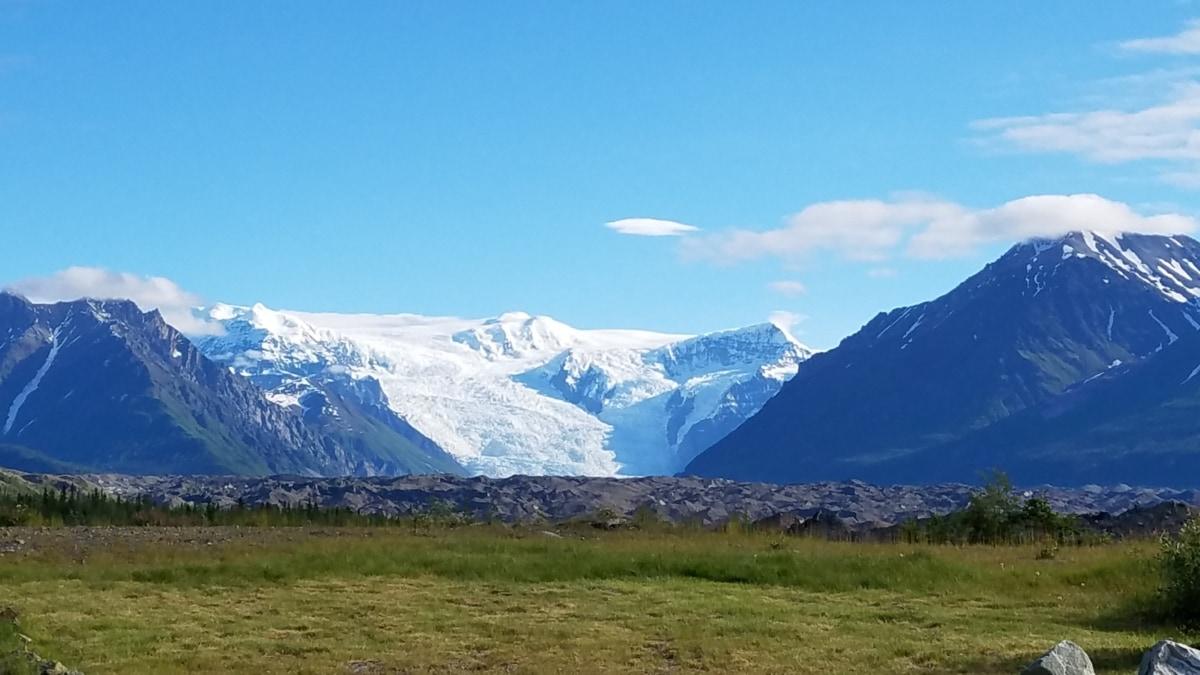 glacier, peak, landscape, mountains, range, snow, mountain, outdoors, nature, high