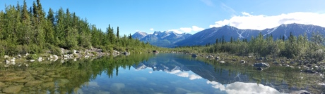lake, majestic, panorama, reflection, scenic, snow, glacier, water, range, mountain