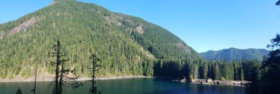 idyllique, Lac, paysage, nature, gamme, montagne, eau, bois, à l'extérieur, été