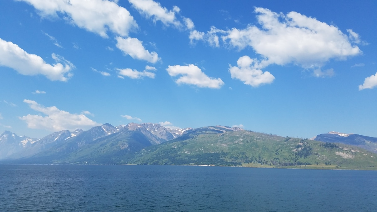 meer, panorama, berg, bereik, Bergen, water, landschap, natuur, zomer, Eiland