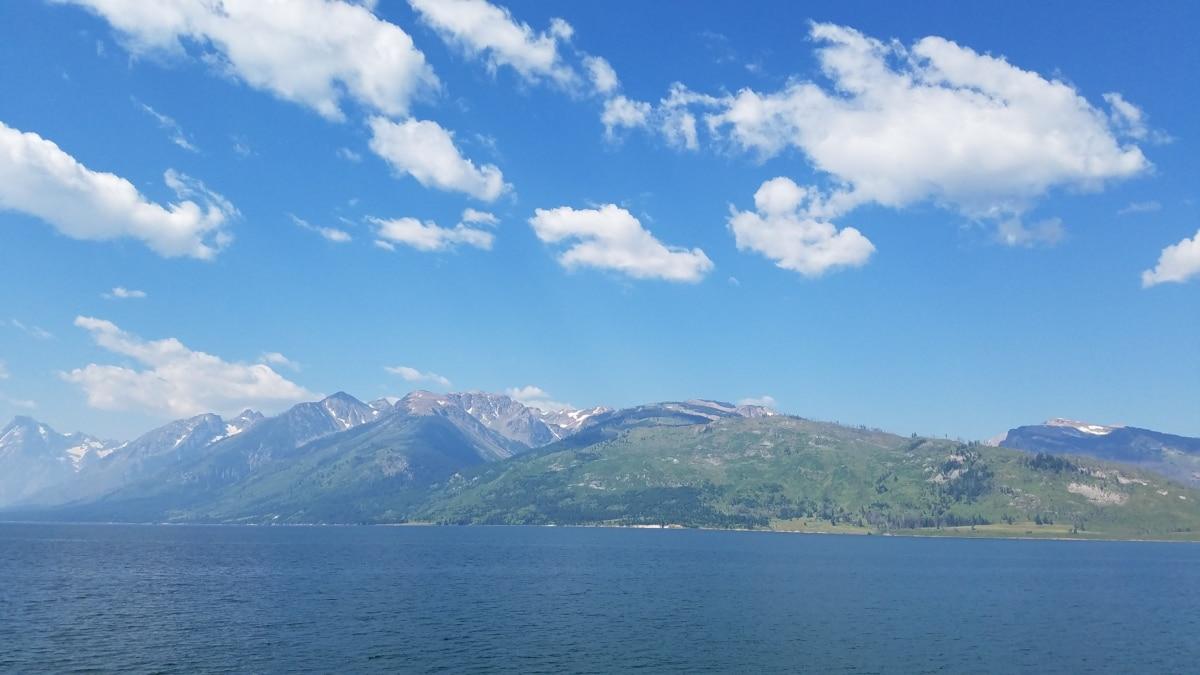 lake, panorama, mountain, range, mountains, water, landscape, nature, summer, island