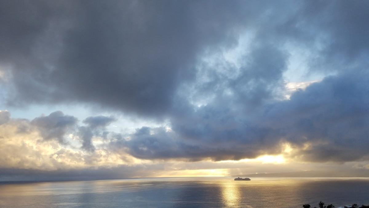 sea, sun, clouds, sunset, water, atmosphere, storm, ocean, dawn, nature