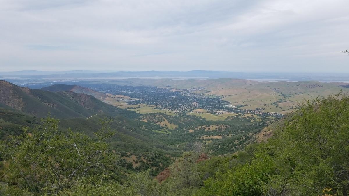 heuveltop, panoramisch, landschap, hoogland, Bergen, berg, natuur, boom, vallei, heuvel