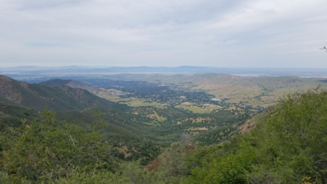 hilltop, panoramic, landscape, high land, mountains, mountain, nature, tree, valley, hill