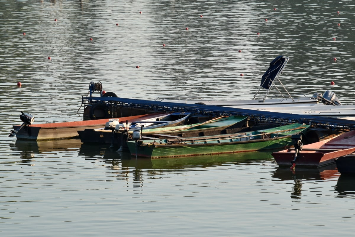 boats, calm, summer time, water, watercraft, river, vehicle, reflection, lake, ship