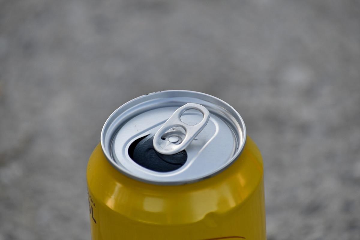 aluminio, metal, bebida, húmedo, envase, vacío, al aire libre, objeto, hermosa foto