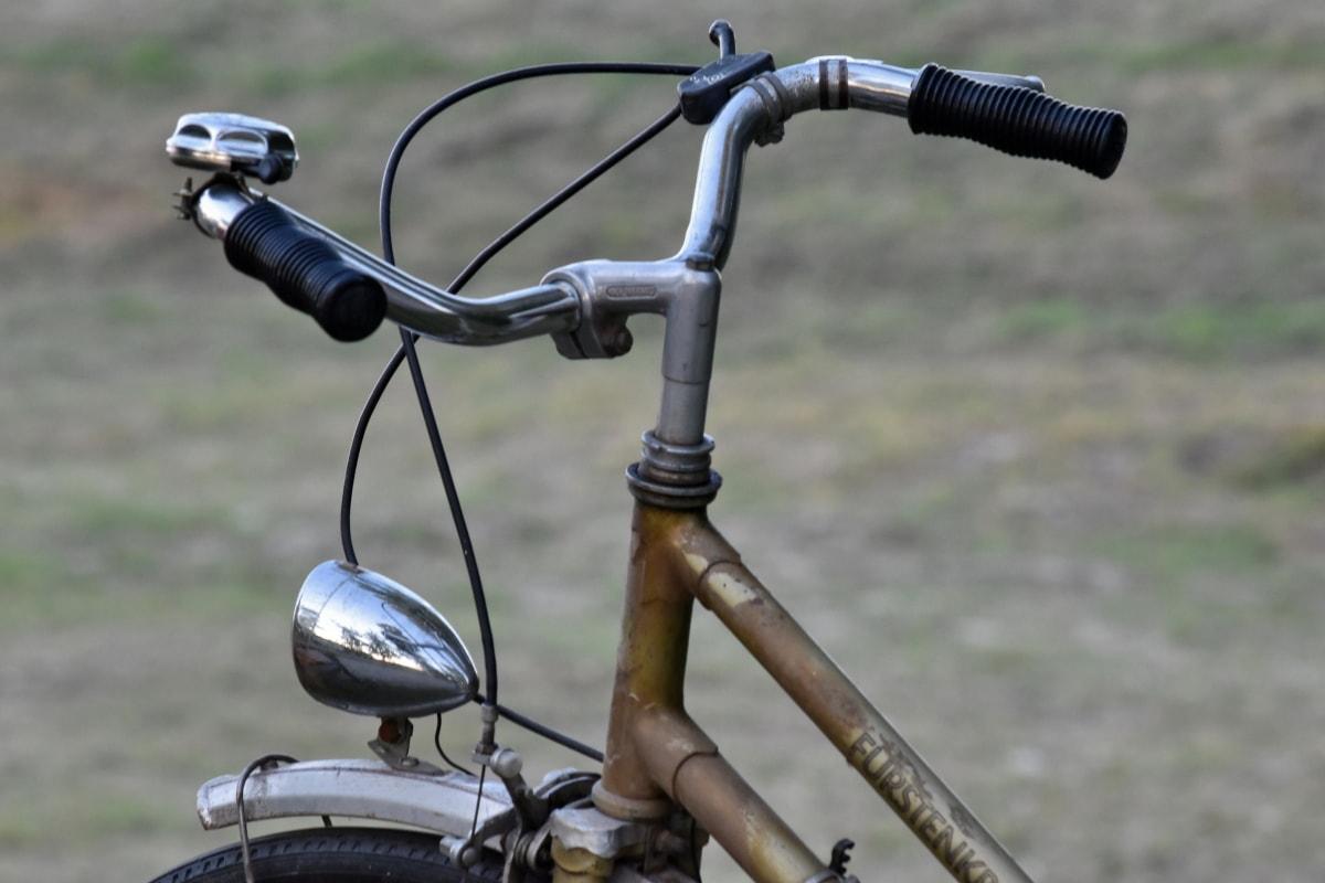 велосипедов, Рулевое колесо, устройство, колесо, велосипед, трава, на открытом воздухе, Упражнение, Спорт, хром