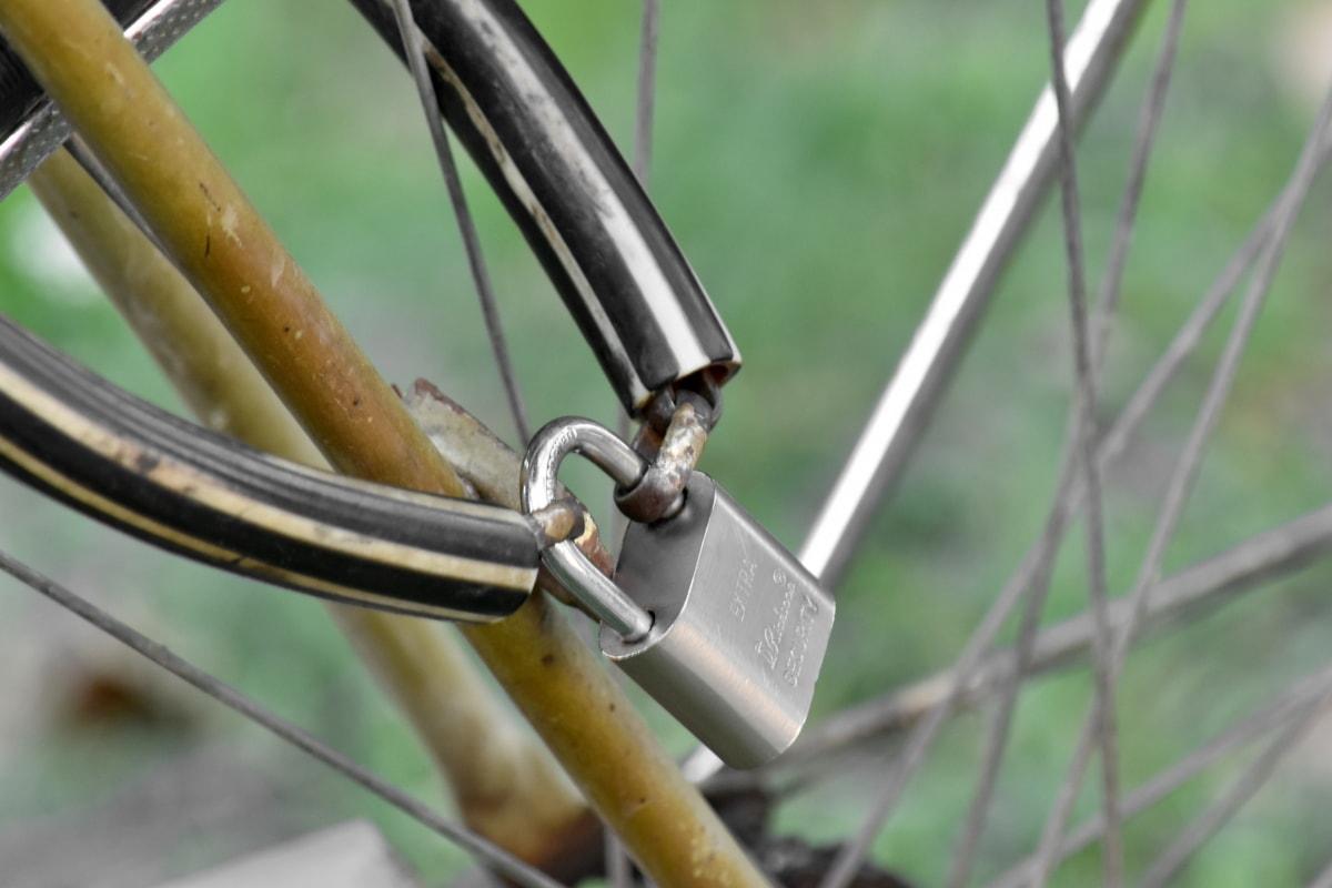 zatvarač, lokot, zaključavanje, kotač, uređaj, čelik, na otvorenom, priroda, željezo, sigurnost