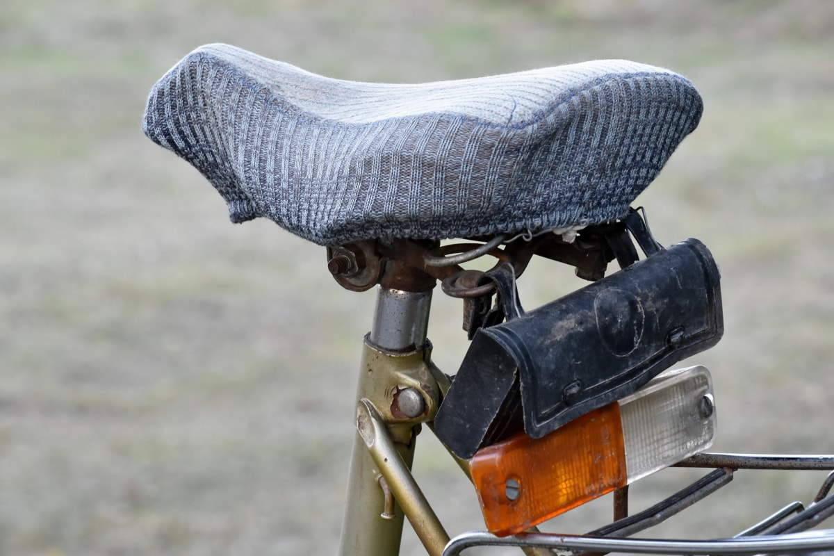 bicycle, old, outdoors, seat, nature, grass, summer, classic, wood, leisure