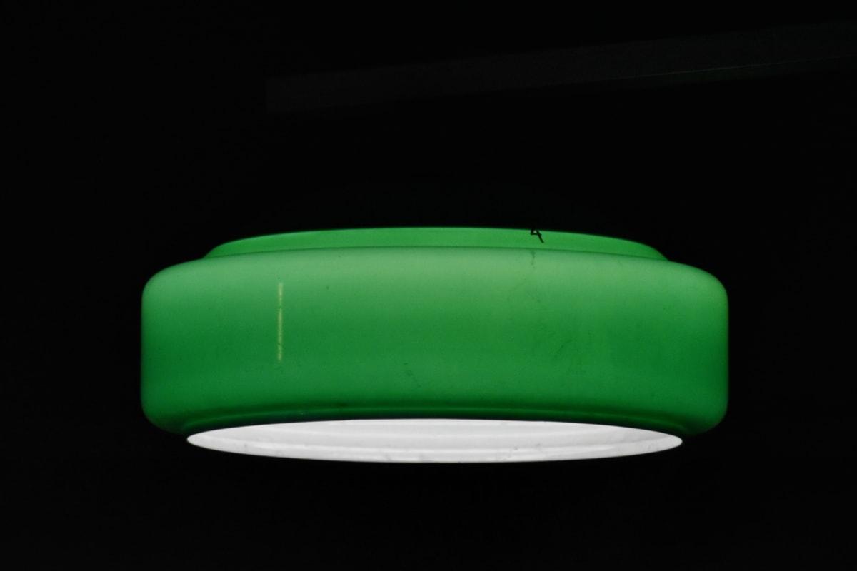 pimeys, sähkön, vihreä, valaistus, lamppu, valo, laitteen, tyhjä, kirkas, paistaa