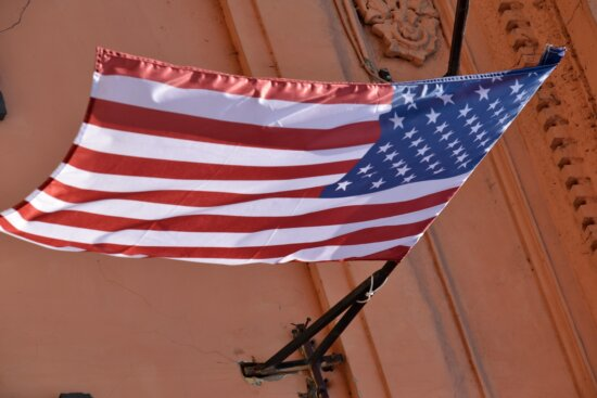 american, flag, wind, emblem, patriotism, democracy, outdoors, architecture, building, country