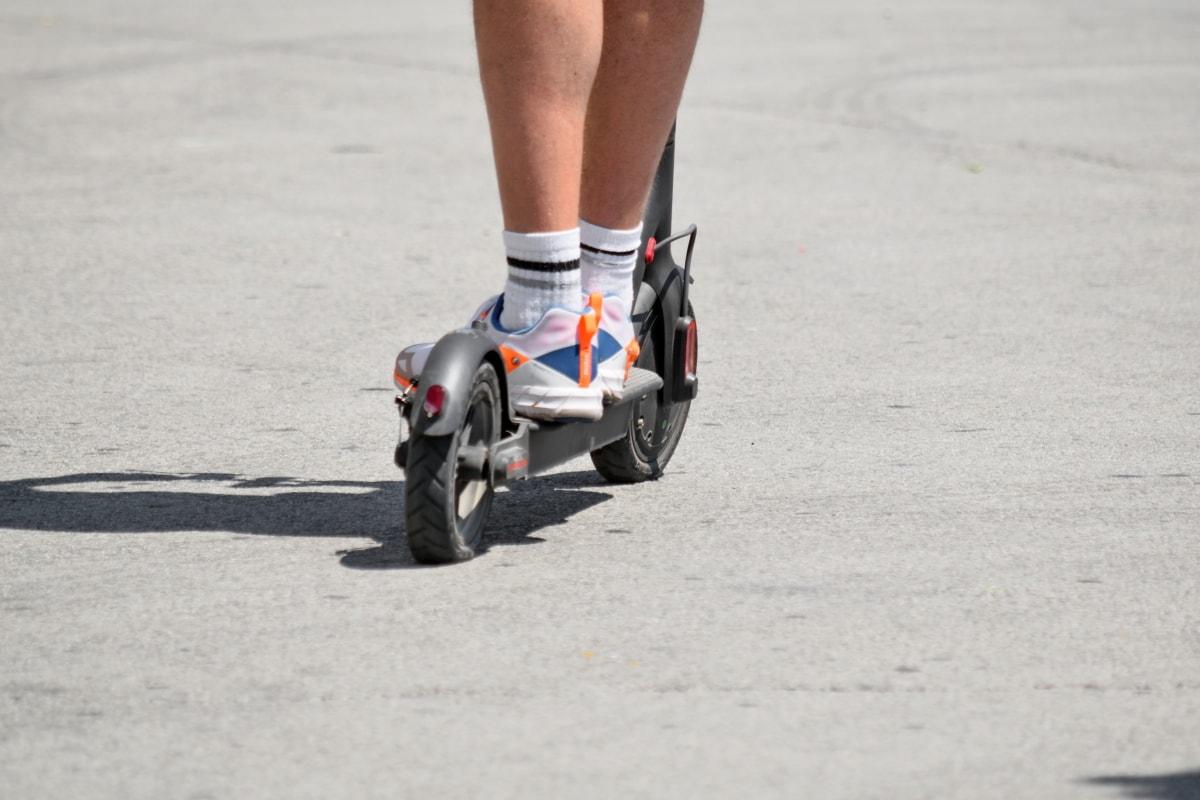 noge, prijevoz, akcija, ulica, čovjek, cesta, na otvorenom, zamagliti, sportski, pokret