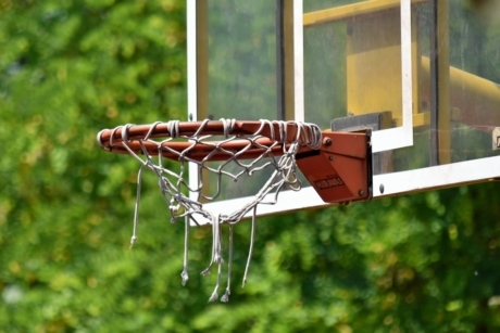 basketball court, network, outdoors, basket, web, summer, equipment, nature, basketball, recreation