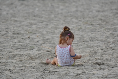 baby, beach, pretty girl, sand, toddler, girl, fun, vacation, child, seashore