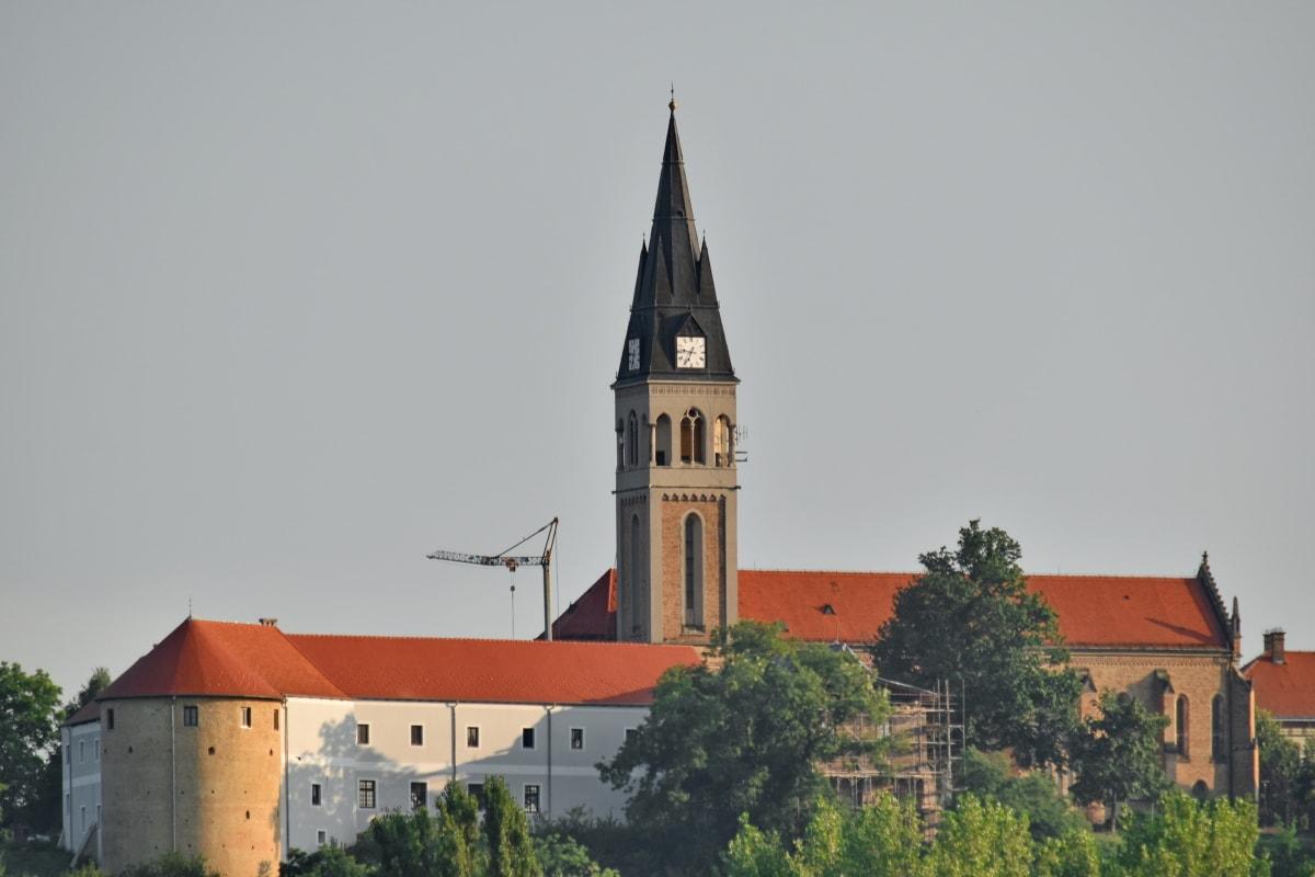linna, Kroatia, Maamerkki, kirkko, katedraali, yliopisto, torni, rakentaminen, arkkitehtuuri, ulkona