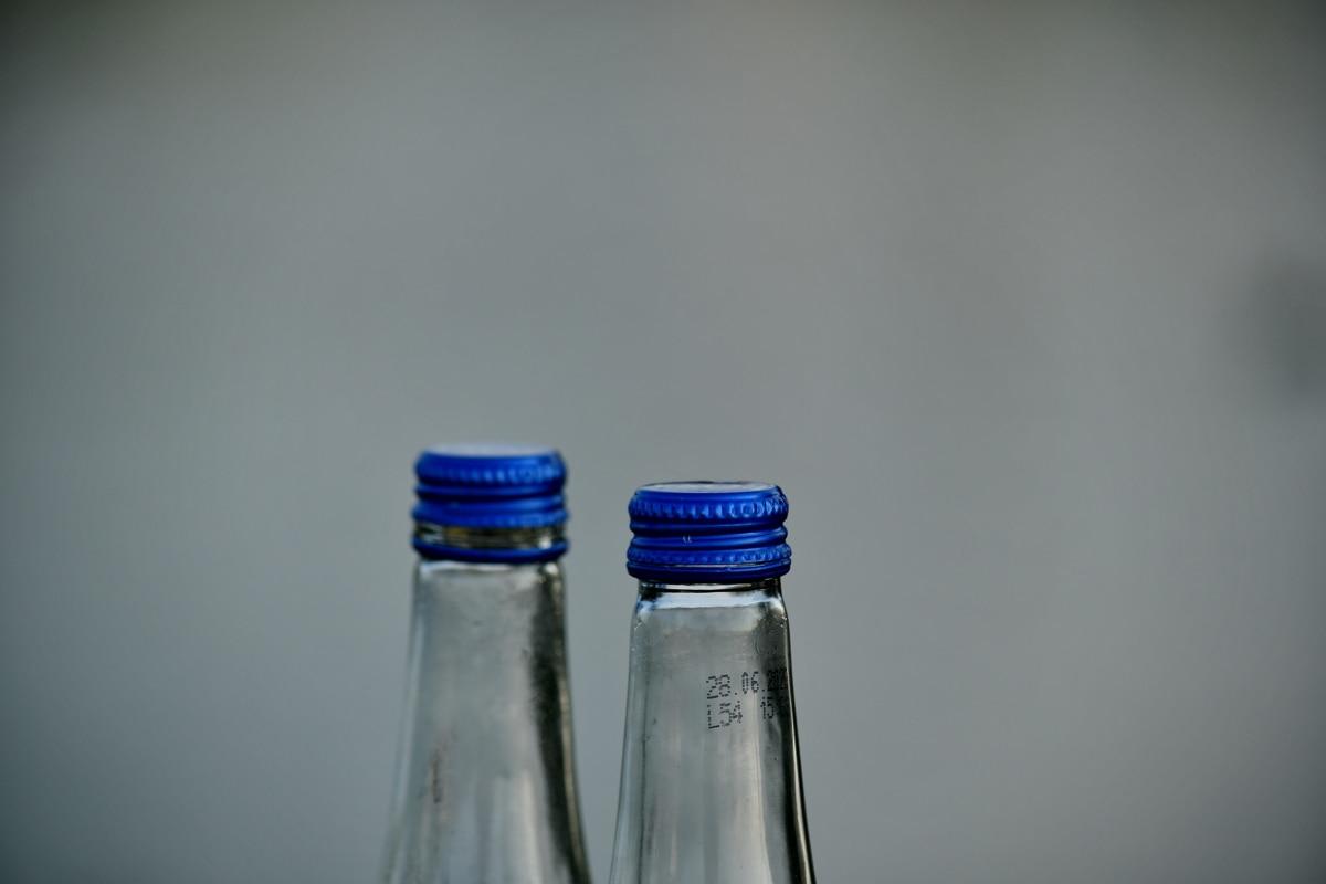 flaskor, transparent, behållare, glas, stilla liv, renhet, reflektion, återvinning, Rensa, flaska