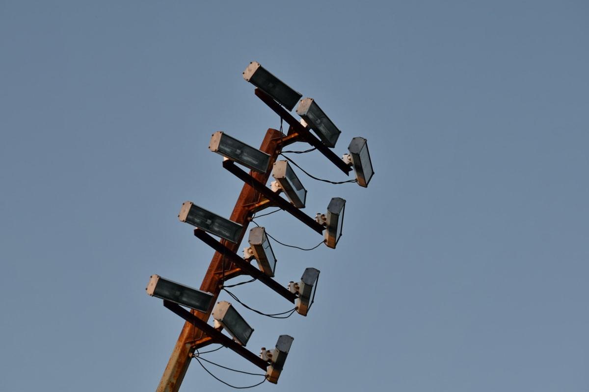 reflektör, aygıt, açık havada, yüksek, teknoloji, Yükseklik, Sanayi, ışık, Hızlı, Çelik