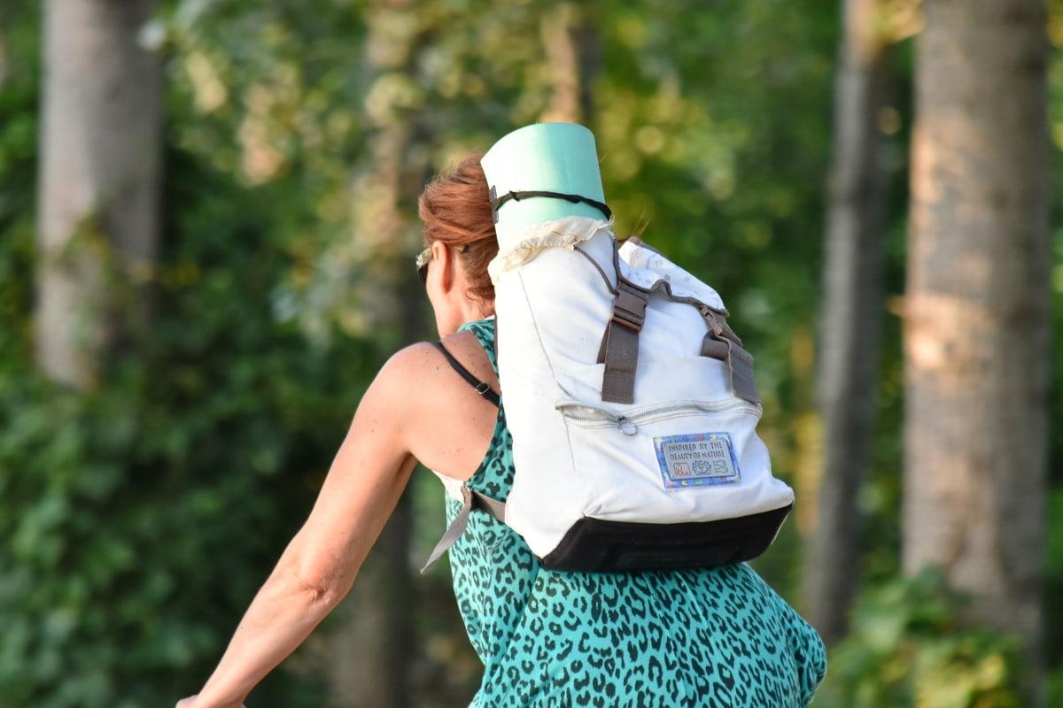vélo, jeune femme, été, nature, à l'extérieur, Loisirs, femme, Recreation, relaxation, Parc