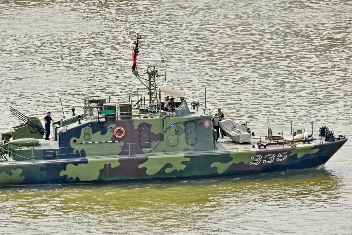 bojová loď, vojenské, loďou, more, voda, loď, hliadkové lode, vojnové loďstvo, vodné skútre, rieka